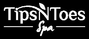 Logo Tips N Toes white